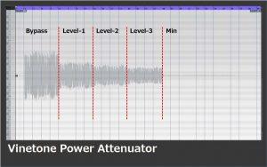 アッテネーター_Vinetone_Power Attenuatorの減衰効果
